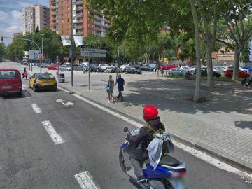 Cruce de la avenida de la Diagonal con la calle de Ramon Llull