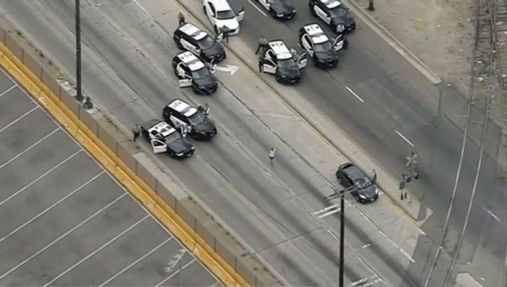 Persecución y tiroteo en Los Ángeles