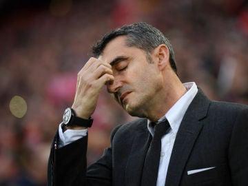Ernesto Valverde, durante el partido contra el Liverpool