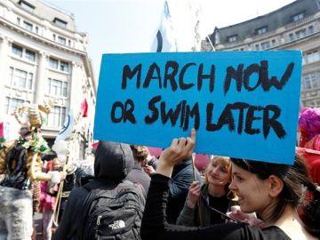 Imagen de archivo de una protesta contra el cambio climático