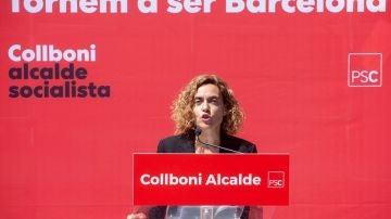 Batet en un acto del PSC durante un mitin en el distrito de Sant Andreu de Barcelona