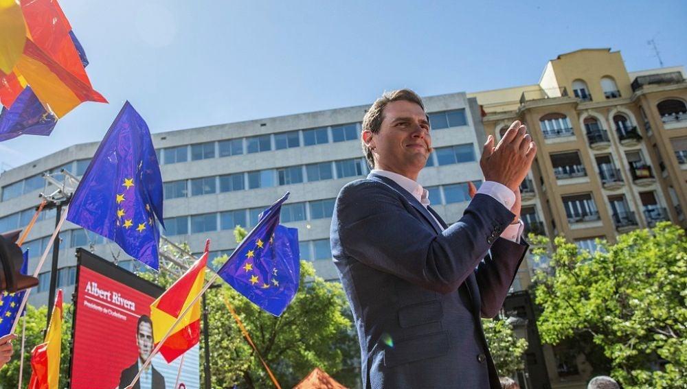 Rivera interviene en el acto de presentación del equipo del partido para las elecciones europeas