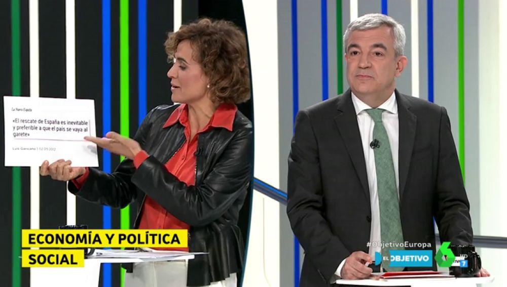 """Los reproches de Luis Garicano a Dolors Montserrat a cuenta del rescate bancario: """"Se debió al saqueo de las bancas de sus políticos"""""""