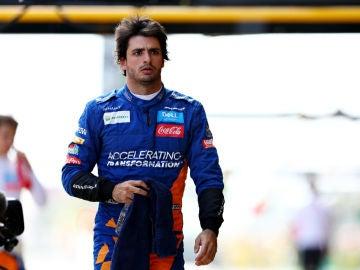 Carlos Sainz, en el GP de España