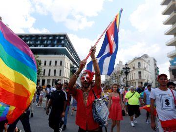 Cuatro detenidos en una manifestación LGBTBI ilegal en Cuba.
