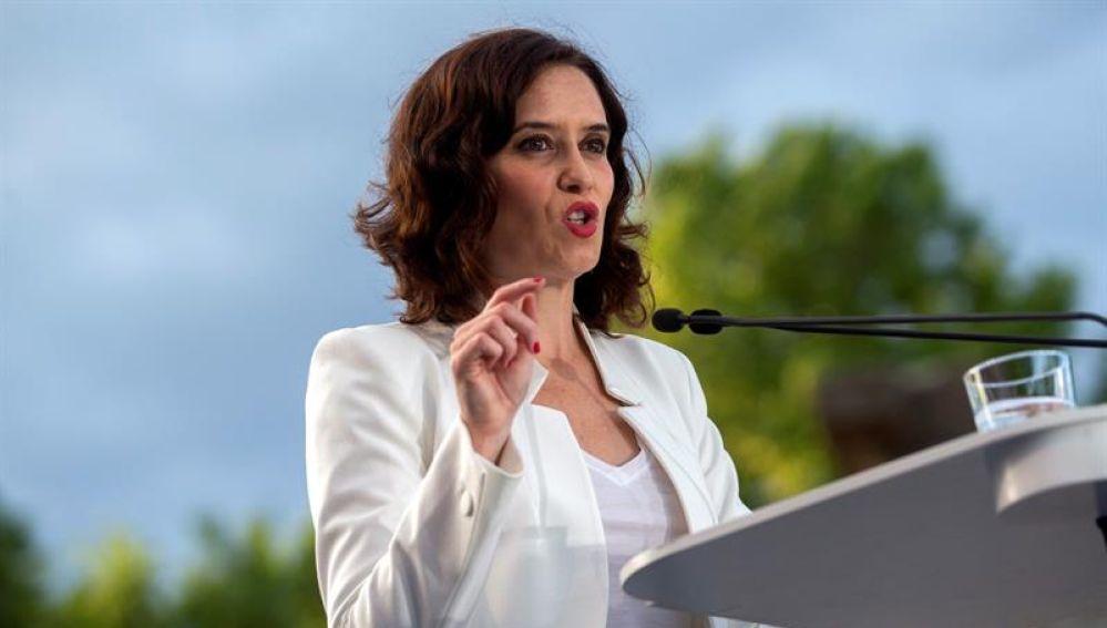 La candidata del PP, Isabel Díaz Ayuso