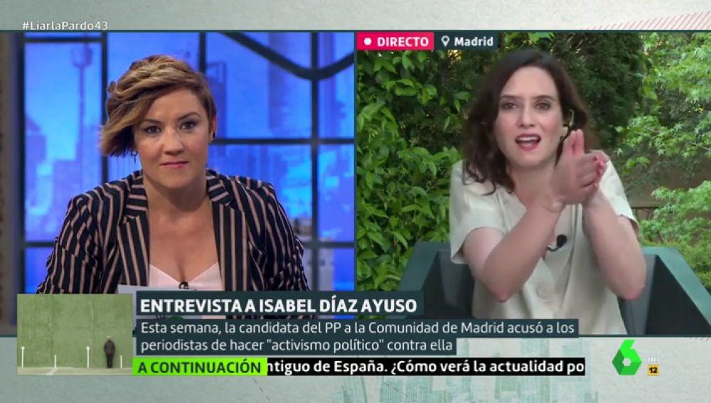 """Isabel Díaz Ayuso: """"Se me está criticando porque todo el mundo sabe que voy a ganar las elecciones"""""""