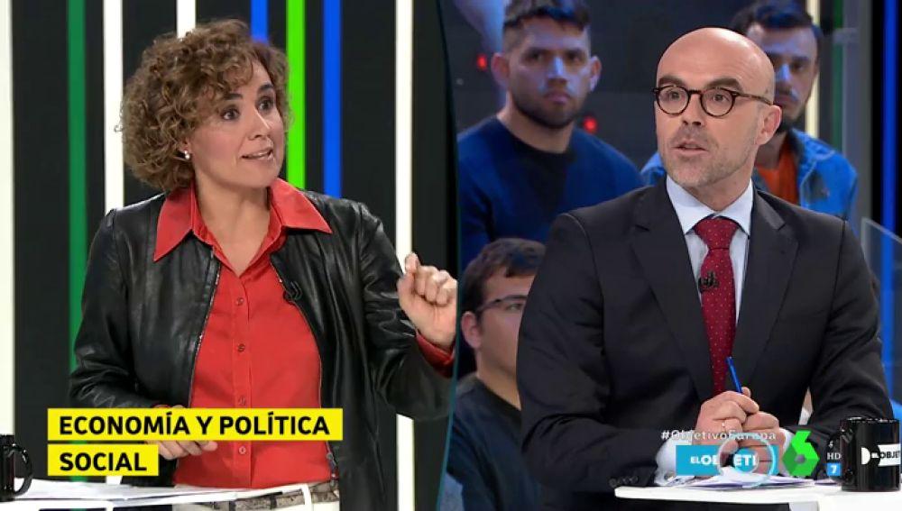 """Dolors Montserrat pone entre las cuerdas a Jorge Buxadé: """"¿En qué partido político se integrarán si salen elegidos en Europa?"""""""