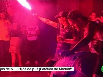 Enfrentamientos entre radicales del Atlético y la Real Sociedad en la Copa de la Reina
