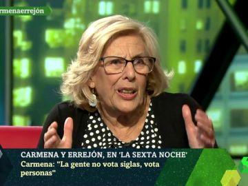 "Manuela Carmena, sobre Vox: ""Es muy duro que un falangista encabece una candidatura europea"""