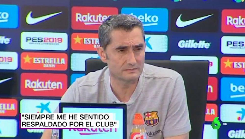 """Valverde: """"Me siento con fuerzas, Bartomeu me transmitió su apoyo absoluto"""""""