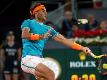 Rafa Nadal en la semifinal del Mutua Madrid Open