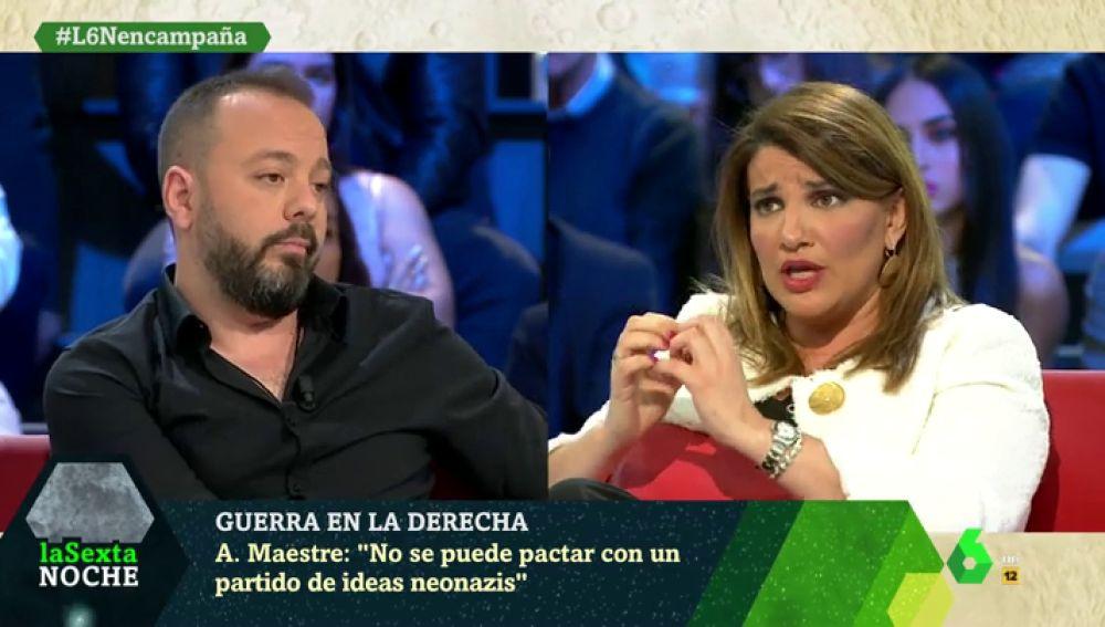 """Tenso encontronazo entre Antonio Maestre y María Claver: """"Comparas a un republicano con un racista y un machista"""""""