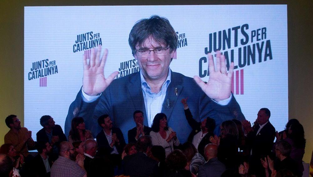 """Puigdemont considera el """"nacionalismo de Estado"""" como una de las principales """"amenazas junto al populismo y la xenofobia"""" en una conferencia desde Bélgica"""