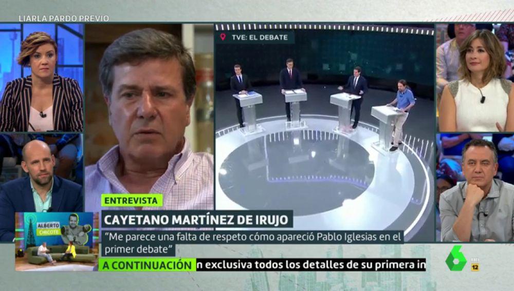 """La dura crítica de Cayetano Martínez de Irujo a la vestimenta de Pablo Iglesias: """"Me parece una falta de respeto"""""""