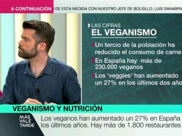 """Luis Alberto Zamora, experto nutricionista: """"Si comparamos la dieta vegetariana con la dieta actual española, sale ganando la vegetariana"""""""
