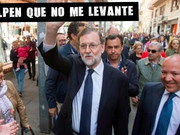 Mariano Rajoy en Zamora durante la campaña del 26M