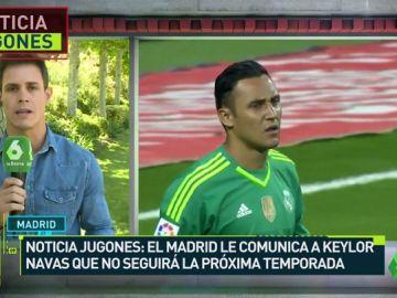El Real Madrid le comunica a Keylor Navas que no cuenta con él