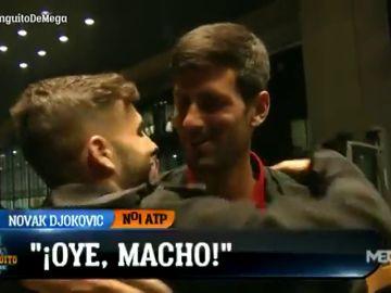 "Momentazo de Marcos Benito con Djokovic: ""¡Oye, macho! Estoy contento de verte"""
