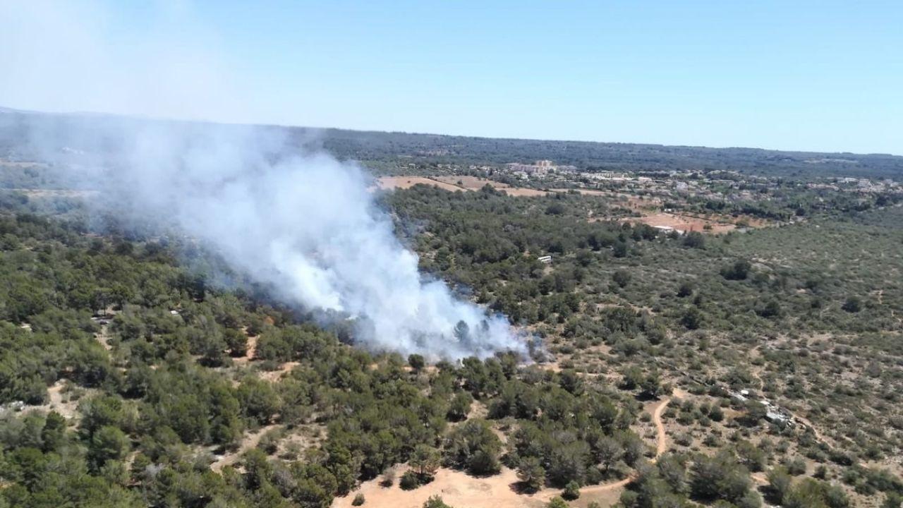 Incendio en Son Verí (Mallorca)