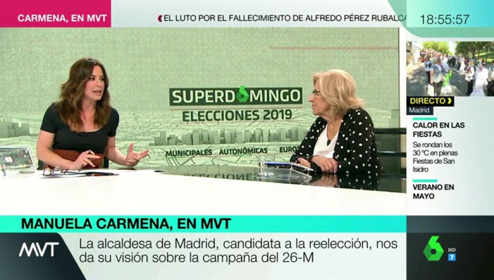 """Entrevista completa a Manuela Carmena: """"Volvería a hacer el proyecto de Madrid Central"""""""