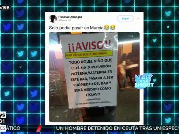 La advertencia viral de un bar a los padres que llevan a sus hijos