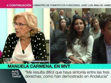 """Manuela Carmena: """"No puede ser una opción que el feminismo pueda apoyar candidaturas como Vox"""""""