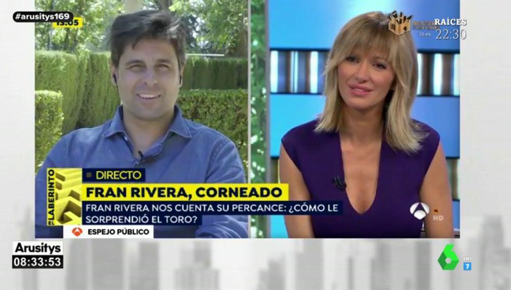 """""""Ahora, a apretar un huevo contra otro"""": así habla Fran Rivera de su cogida en los testículos"""