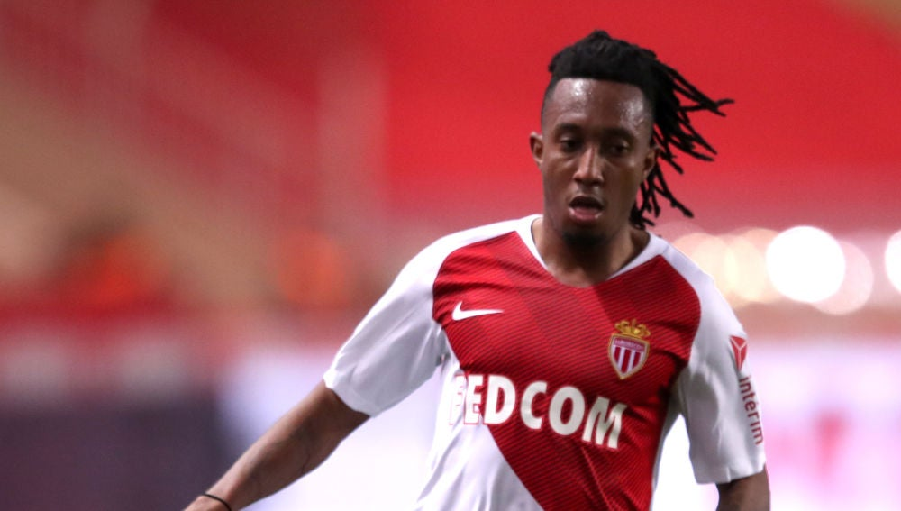 Gelson Martins, en un partido con el Mónaco