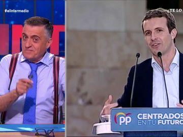 """Wyoming 'pilla' a Pablo Casado en su truco electoral: """"Cómo se nota la influencia de Mariano Rajoy..."""""""
