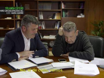 El delegado de Gobierno de la Xunta y Alberto Chicote