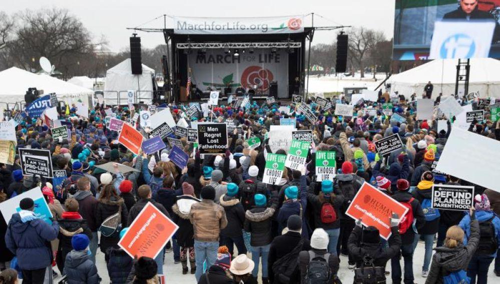Manifestación por el aborto en Estados Unidos