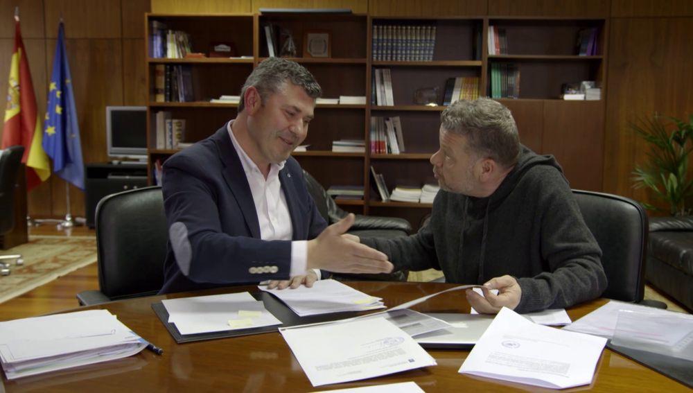 Alberto Chicote y el delegado de Gobierno de la Xunta en A Coruña