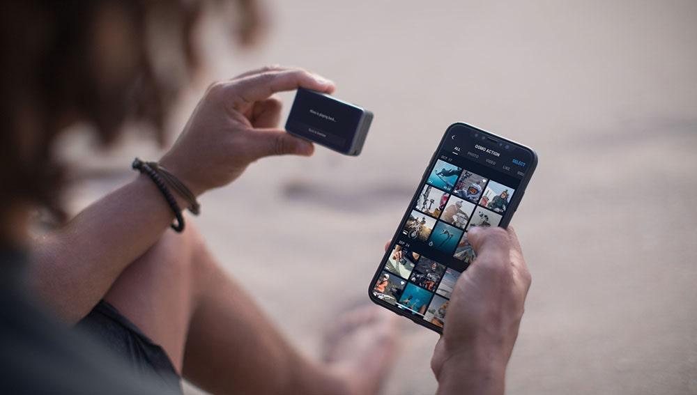 La nueva DJI Osmo Action se puede conectar al smartphone sin cables