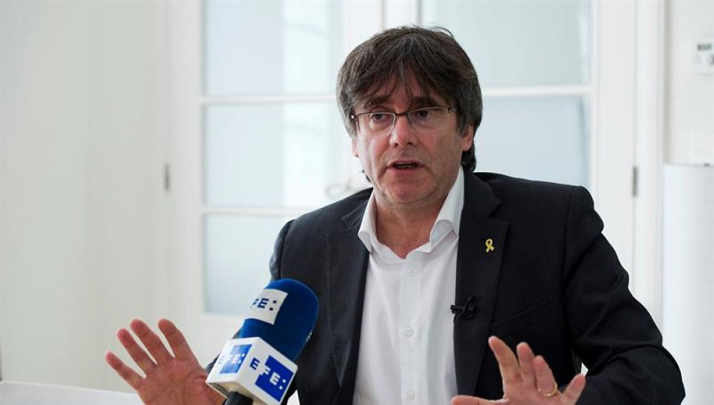 El expresident y cabeza de lista de JxCat a las elecciones europeas, Carles Puigdemont