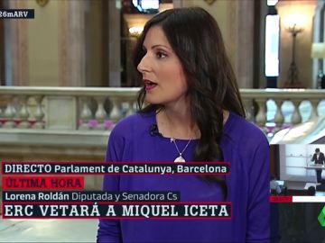"""Lorena Roldán (Cs): """"El chollo de los separatistas va a continuar con Pedro Sánchez"""""""