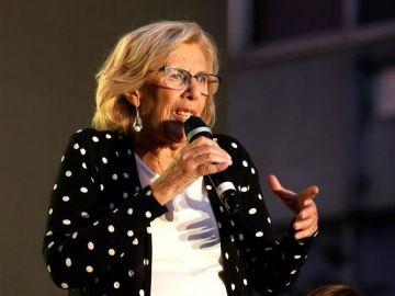 La actual alcaldesa y candidata de Más Madrid, Manuela Carmena