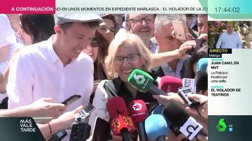 """El divertido malentendido que ha desatado las risas de Errejón y Carmena: """"Ahí sí que revolucionamos Sna Isidro"""""""