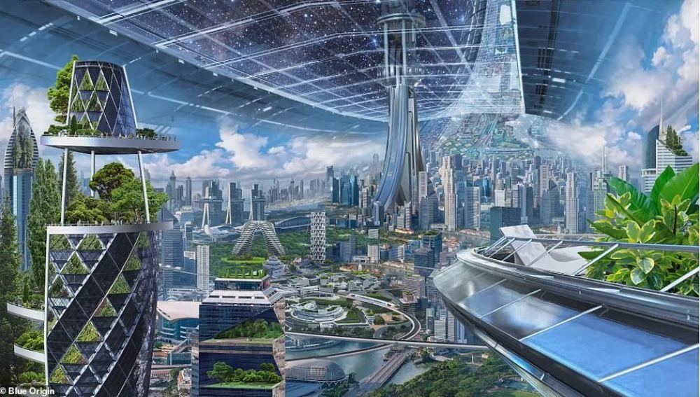 Una de las colonias espaciales