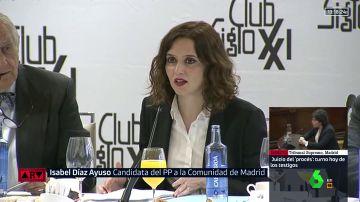 Díaz Ayuso (PP) compara la petición de pena de Cifuentes con la de la asesina de Gabriel, Ana Julia Quezada