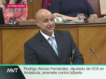 Un diputado de Vox en el Parlamento andaluz arremete contra laSexta