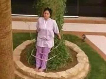 """Una familia saudí ata a su empleada del hogar a un árbol como """"castigo"""""""