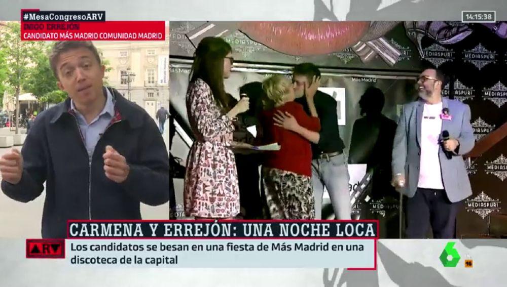 "Íñigo Errejón: ""Carmena me miró, no nos pudimos resistir y nos acabamos besando"""