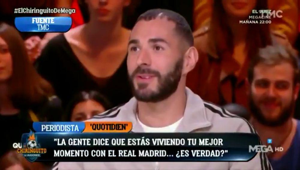 """Benzema: """"¿El mejor momento de mi carrera? Sí, creo que sí"""""""