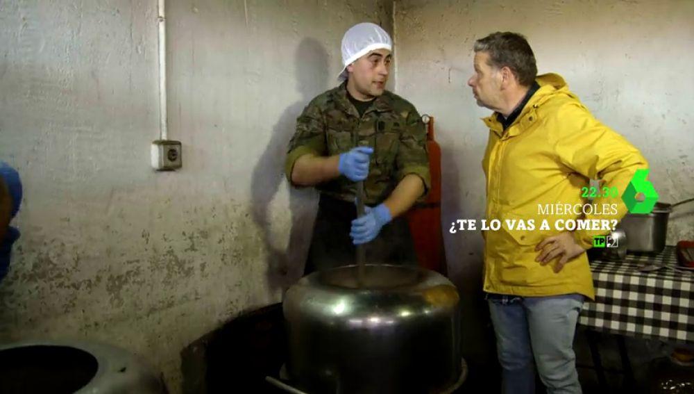 Alberto Chicote se mete en el Ejército para conocer la comida de los militares