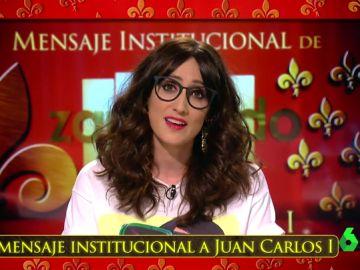 Mensaje institucional de Ana Morgade desde Zapeando a don Juan Carlos I