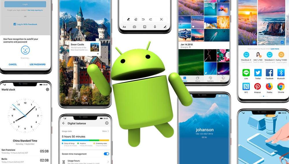 EMUI 9 en móviles Huawei