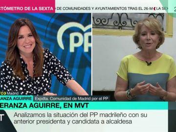 Esperanza Aguirre se ofrece como tertuliana de Más Vale Tarde en plena entrevista con Mamen Mendizábal