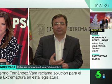 """Guillermo Fernández Vara, tras ganar con mayoría absoluta en Extremadura: """"El tren es una deuda que tiene contraída España"""""""