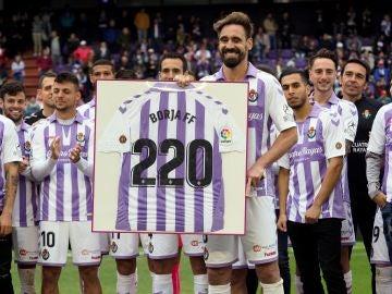 Borja Fernández, tras su último partido con el Valladolid
